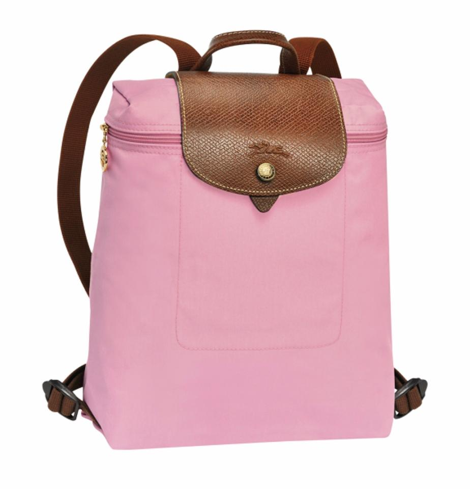 517e29c3e45 Longchamp Le Pliage Pink Backpack - Tradesy