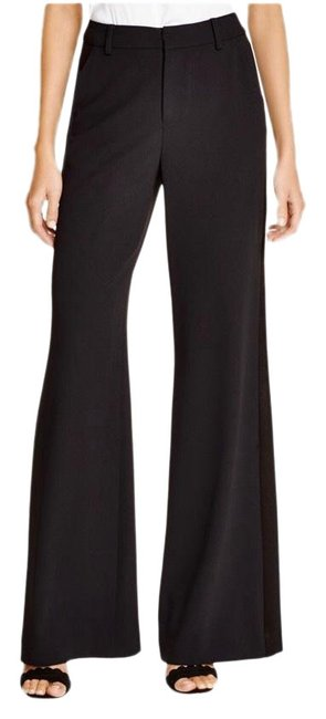 Alice + Olivia Black Paula Stretch Tuxedo Pants Size 4 (S, 27) Alice + Olivia Black Paula Stretch Tuxedo Pants Size 4 (S, 27) Image 1