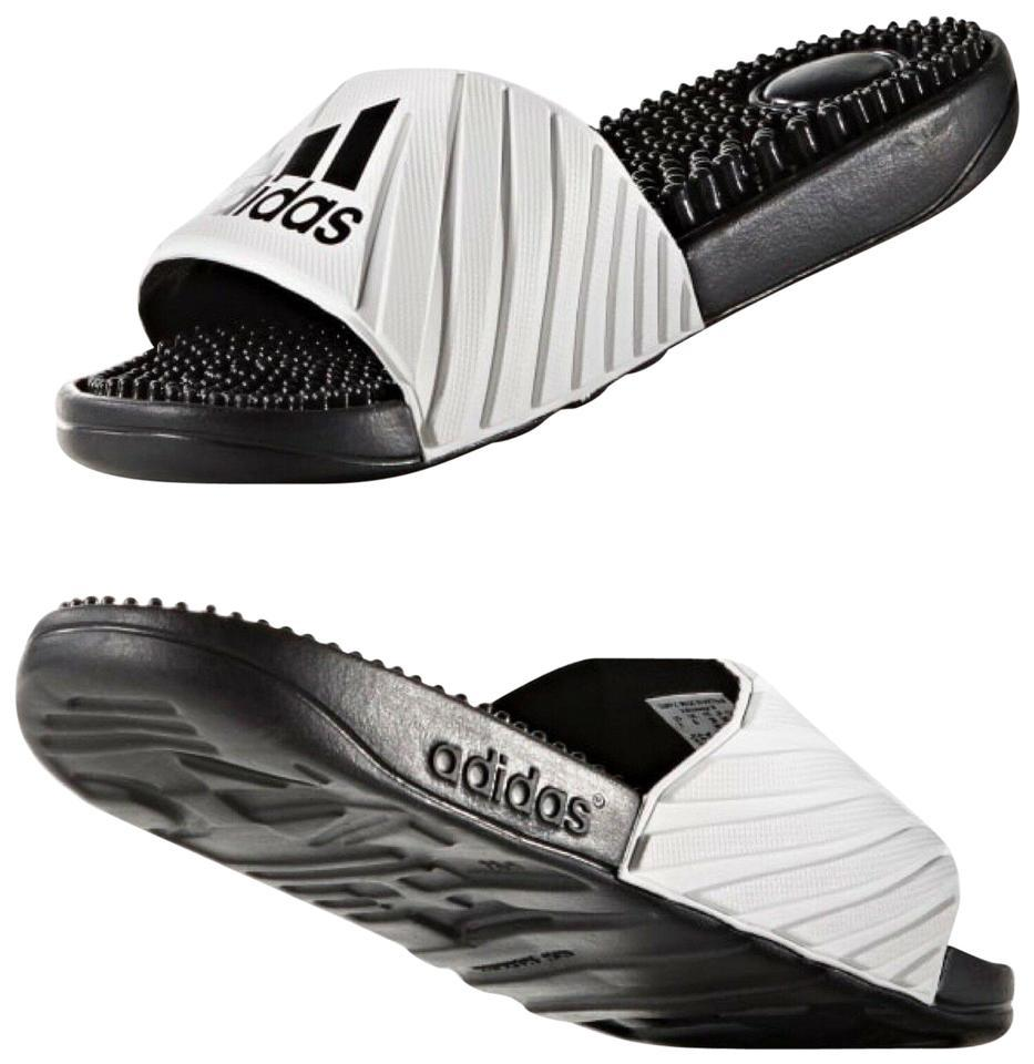 d28d9a013 adidas Open Toe Slip On Flat Slippers Sporty white Sandals Image 0 ...