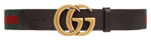 Gucci Web belt with Double G buckle, size 32 in (80cm)