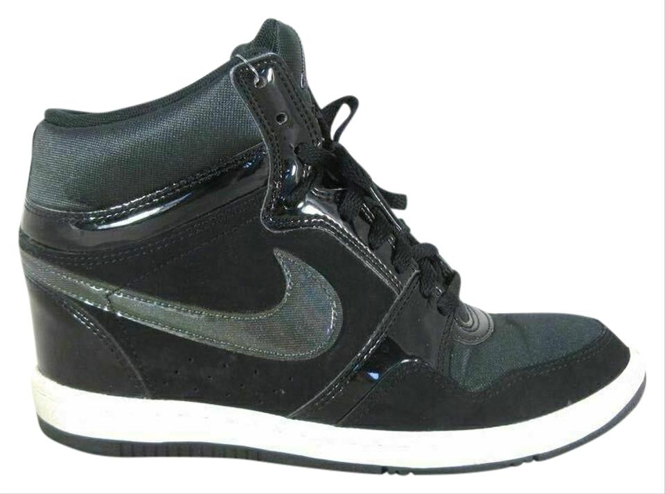 8046a01970109 Nike Black - Force Sky High 629746-001 Black/Anthracite Hidden Wedge  Sneakers