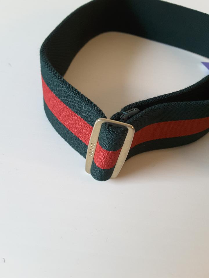 883e7336174 Gucci Green Red Web Elastic with Torchon Double G Buckle Size 32 In ...