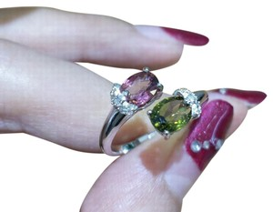 9.2.5 Genuine Tourmalines 925 Sterling Silver