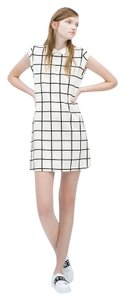 Zara short dress White Plaid Collar Check Peter Pan Collar Mini on Tradesy