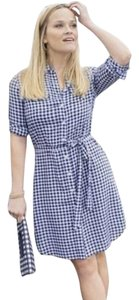 Draper James short dress navy and white Reese Witherspoon Gingham Gingham on Tradesy