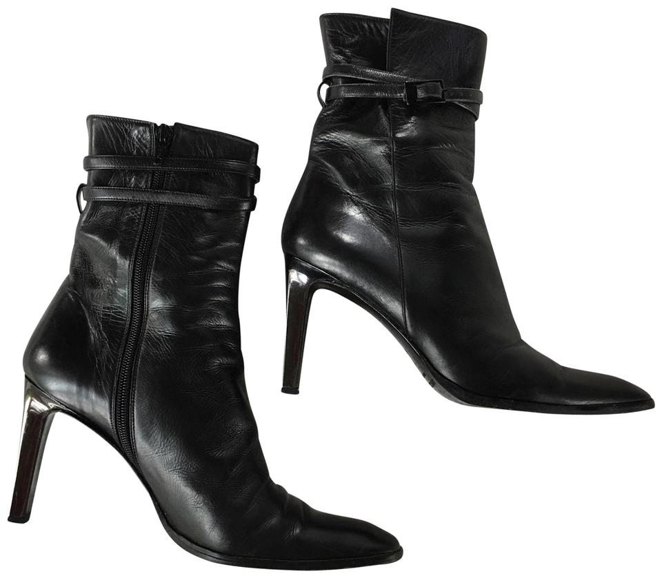 sneakers catch cheapest price Anne Klein Black Napa Leather Ankle Boots/Booties Size US 9 Narrow (Aa, N)