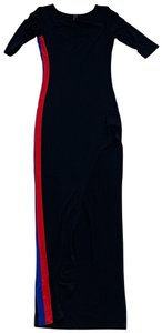 Black Red Blue Maxi Dress by San Joy