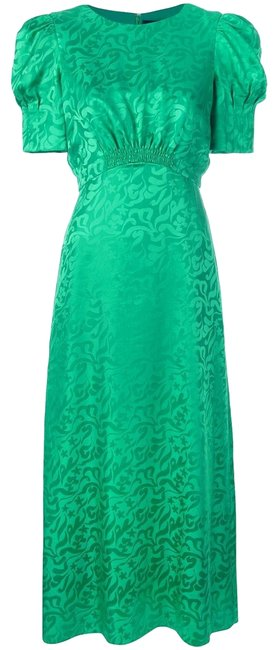 Item - Emerald Green Micro Pleated Long Cocktail Dress Size 0 (XS)