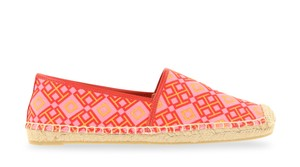 Tory Burch Canvas Leather Rubber Red Flats