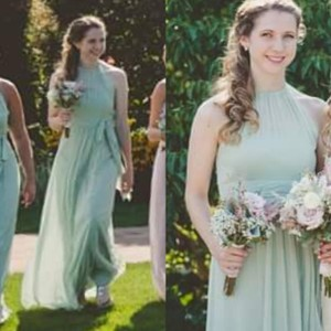 537681df7c After Six Celadon - Light Green Tulle 6613 Formal Bridesmaid Mob Dress Size  8 (