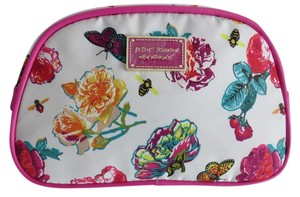 Betsey Johnson Nwt Betsey Johnson Multicolored Floral And Butterfly Cosmetic Bag