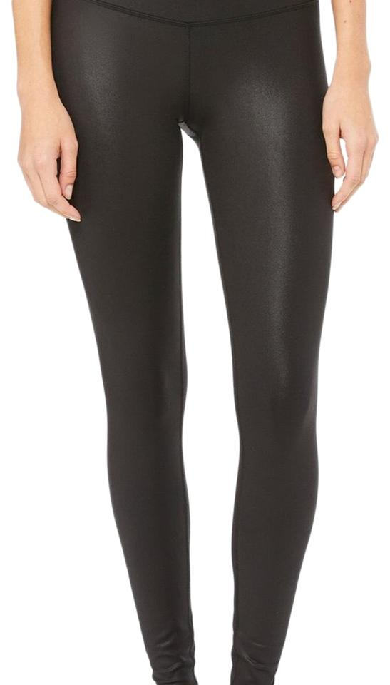 5a19af4447 Alo Glossy Black High-waist Airbrush Activewear Bottoms Size 2 (XS ...