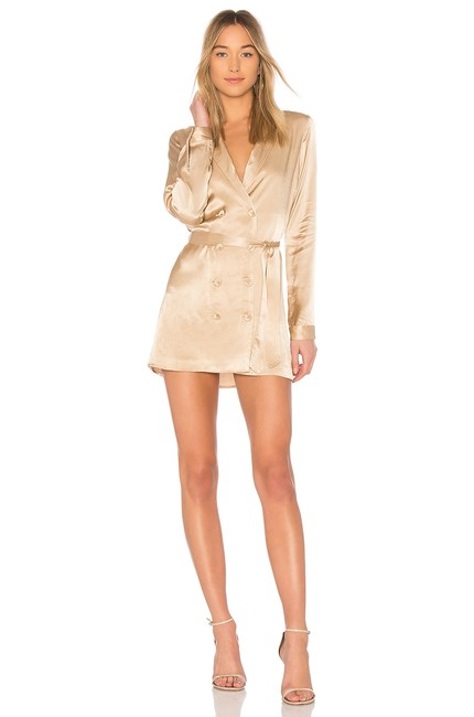 Item - Champagne The Sophie Short Night Out Dress Size 2 (XS)