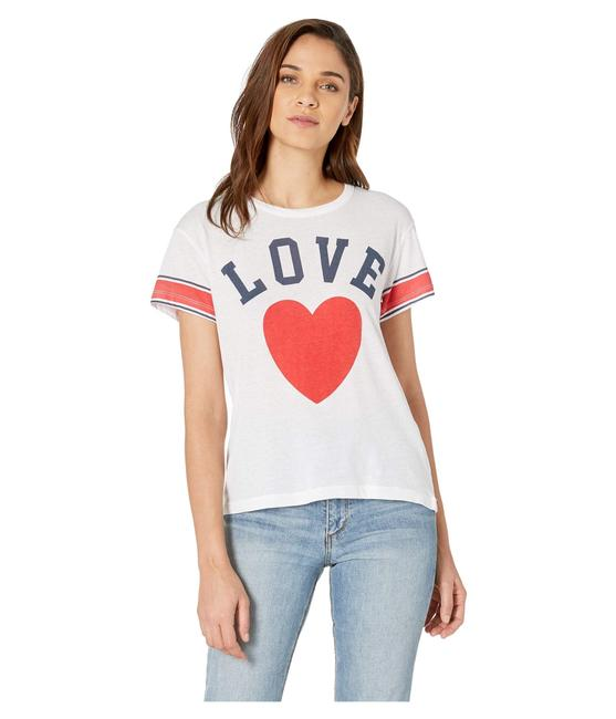 Preload https://img-static.tradesy.com/item/25175314/chaser-white-love-vintage-jersey-high-low-tee-shirt-size-8-m-0-0-650-650.jpg
