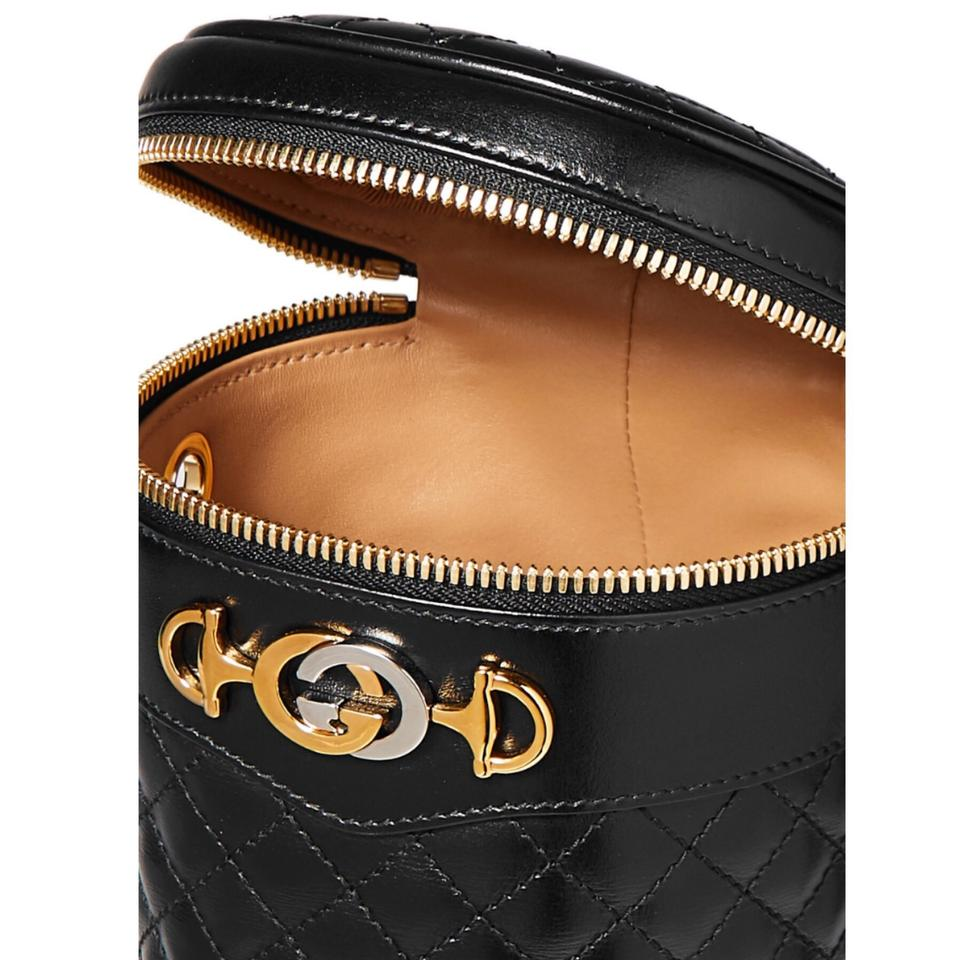 887771e3 Gucci Belt Trapuntata Quilted Leather Black Cross Body Bag