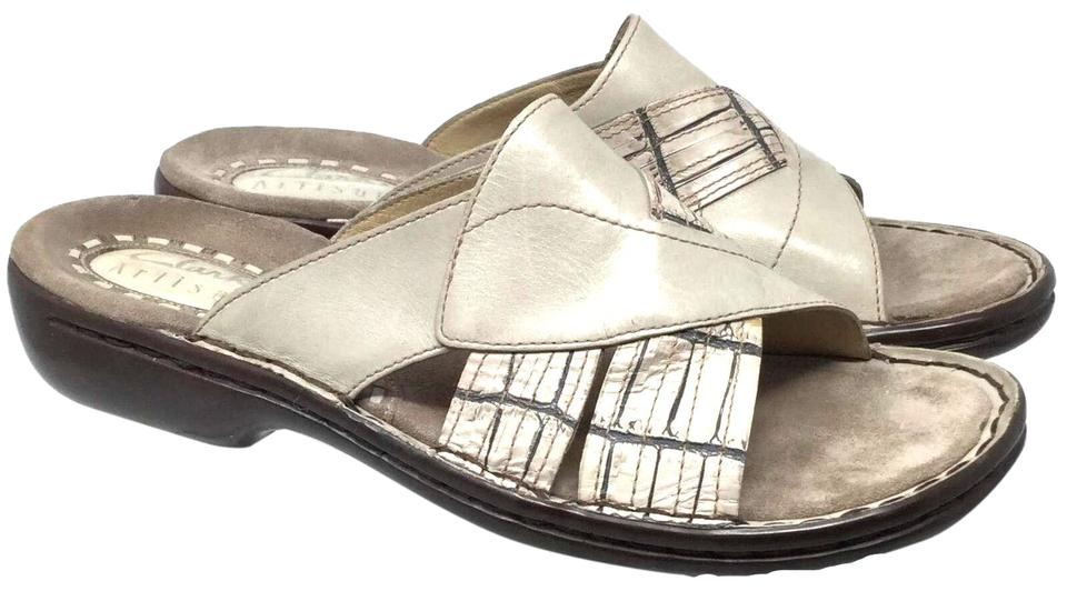 8ece294f Gray Women's Leather Sandals