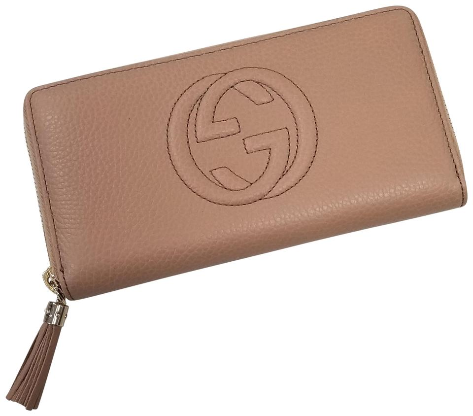 6f6b41589af Gucci Beige Soho Leather Zippy Zip Around Wallet - Tradesy