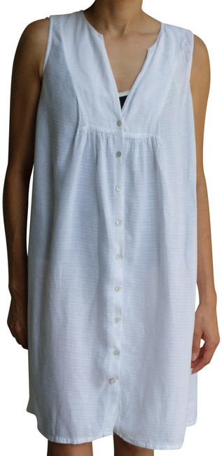 Item - White Linen Cover-up/Sarong Size 4 (S)