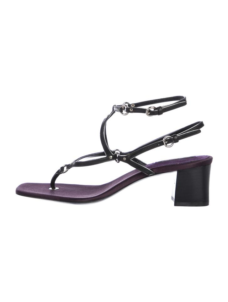 2b3283f372d0 Louis Vuitton Black Leather Strappy Sandals Size EU 39 (Approx. US 9 ...