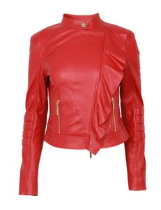 Marciano Red Leather Jacket