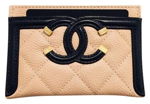 Chanel CHANEL Grained Calfskin Quilted CC Card Casev