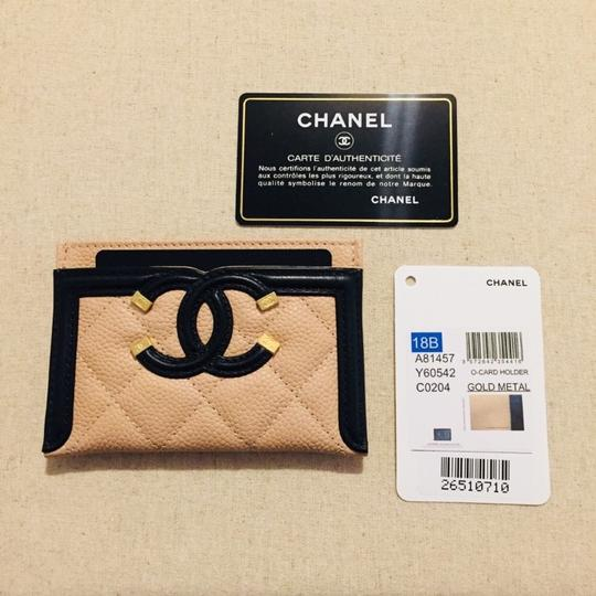Chanel CHANEL Grained Calfskin Quilted CC Card Casev Image 4
