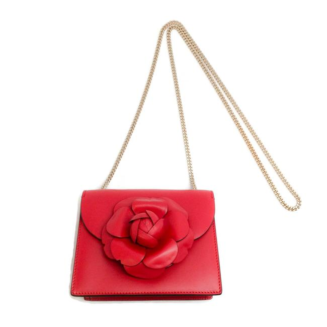 Item - Mini Tro Ruby Red Leather Shoulder Bag