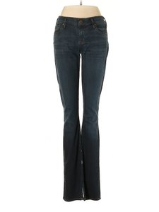 Citizens of Humanity Mid Rise Whiskering Flare Boot Cut Jeans-Dark Rinse