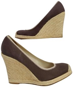 13698c59d97 Banana Republic Espadrille Casual Platform Brown Wedges