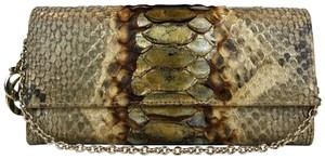 Dior Christian Metallic Wallet On Chain Flap Wristlet in Gold