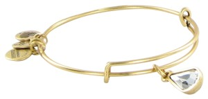 Alex and Ani April Teardrop Swarovski Birthstone Bracelet Rafaelian Gold NWT