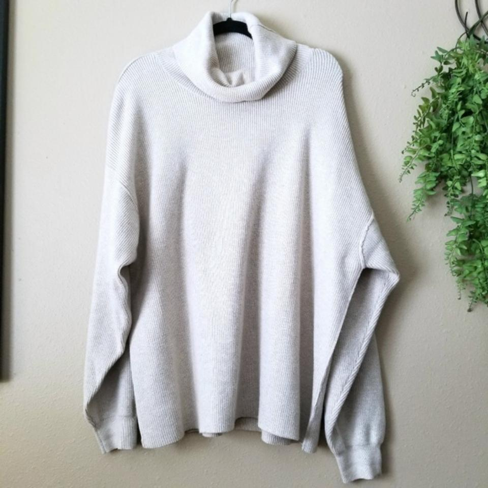 9cc5d4632c6d Free People Softly Structured Tunic Heathered Oatmeal Sweater - Tradesy