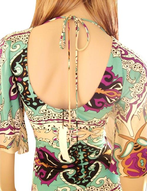 Sky Silk with Crystal Medallion Multi-color Top Sky Silk with Crystal Medallion Multi-color Top Image 4