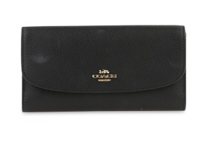 Coach Polished Pebble Leather Checkbook Wallet