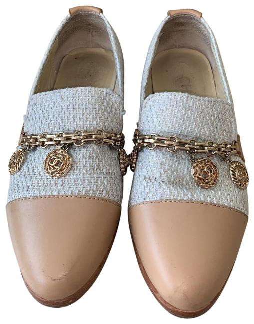 Item - Cream Tweed White Chain Loafers Flats Size EU 36 (Approx. US 6) Regular (M, B)