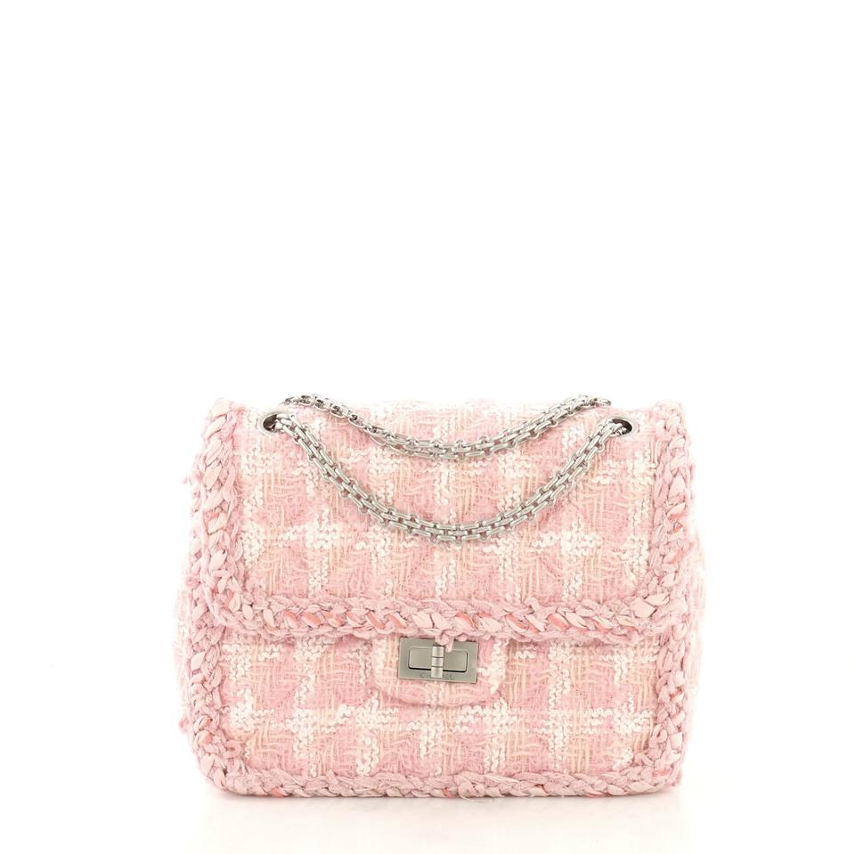2db30574f8568f Chanel 2.55 Reissue Reissue Square Handbag Quilted Pink Tweed ...