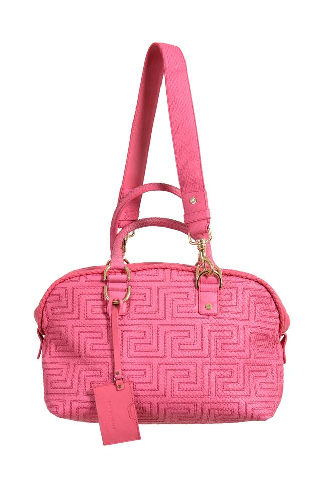 1783b4645c0 Versace Couture Quilted Handbag Pink Leather Shoulder Bag - Tradesy