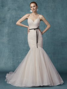 86b21932499 Maggie Sottero Blush Sparkle Tulle Camden Modern Wedding Dress Size 16 (XL