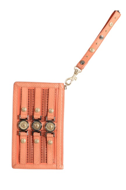 Item - Women's Wristlet Orange Leather Clutch