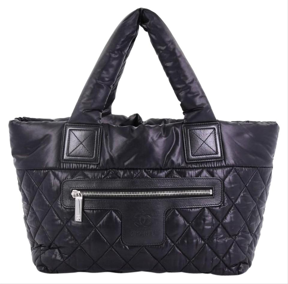 Chanel Cocoon Coco Reversible Quilted Small Black Nylon