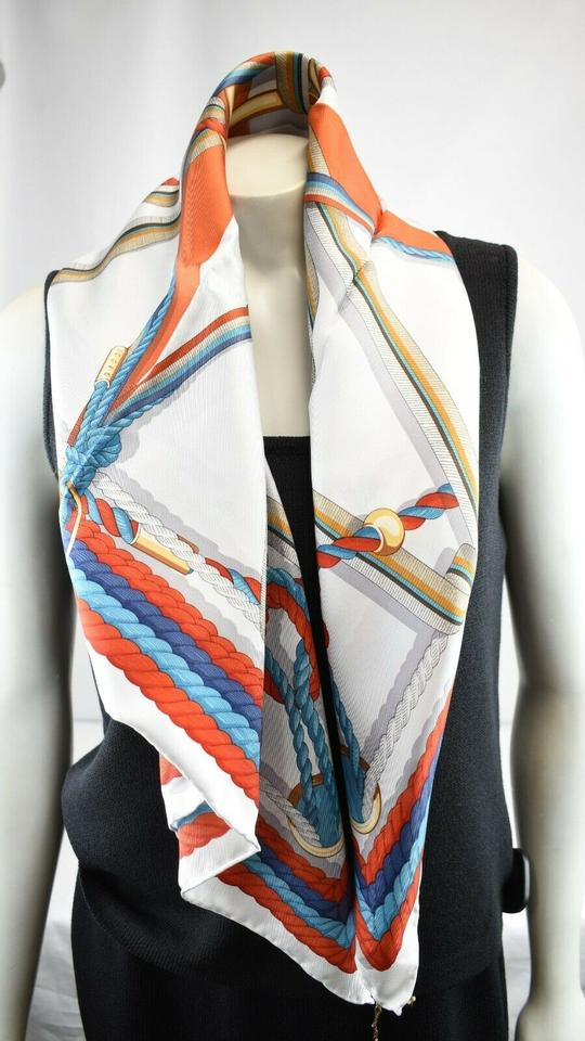 0d4cf82d72588 Gucci Multicolor New Nautical Print Foulard Silver Twill Mistral ...