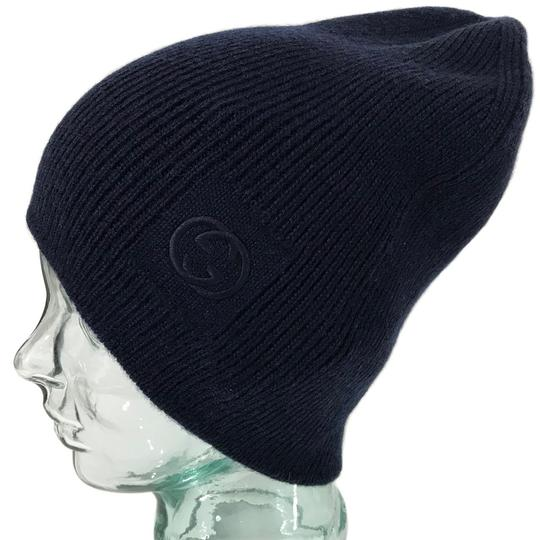 390577f9c Gucci Blue New Wool Interlocking Gg Beanie Size Medium Hat 12% off retail