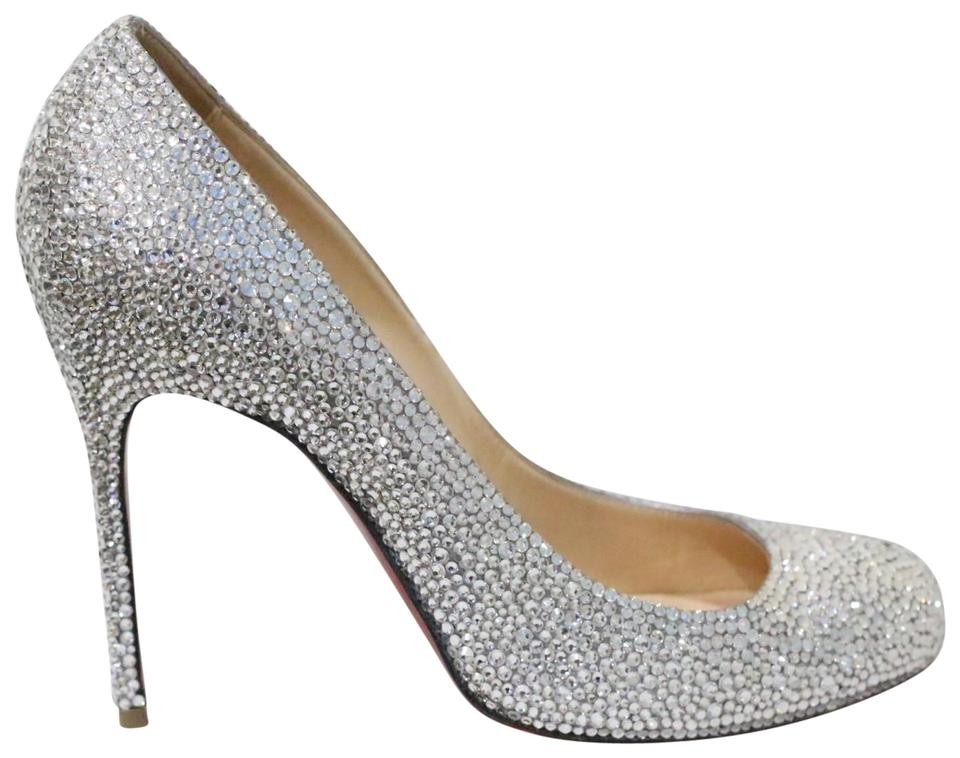 sale retailer 4f163 9889a Christian Louboutin White Fifi Wedding Swarovski Strass Pumps Sandals Size  EU 39 (Approx. US 9) Regular (M, B)