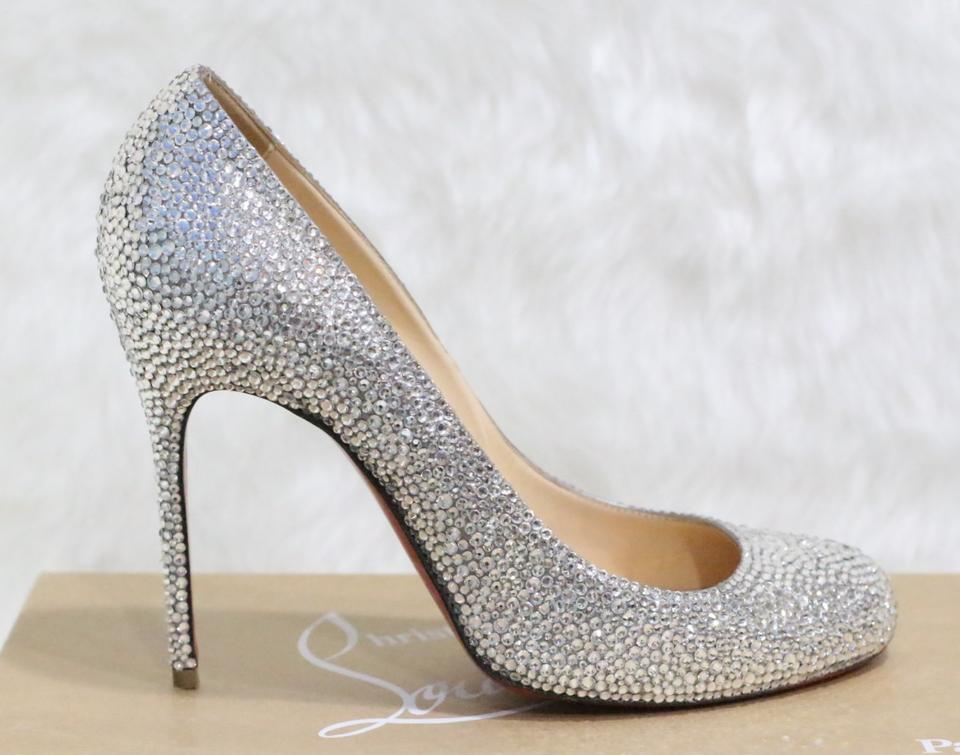 3b1081f6e8c Christian Louboutin White Fifi Wedding Swarovski Strass Pumps Sandals Size  EU 39 (Approx. US 9) Regular (M, B)