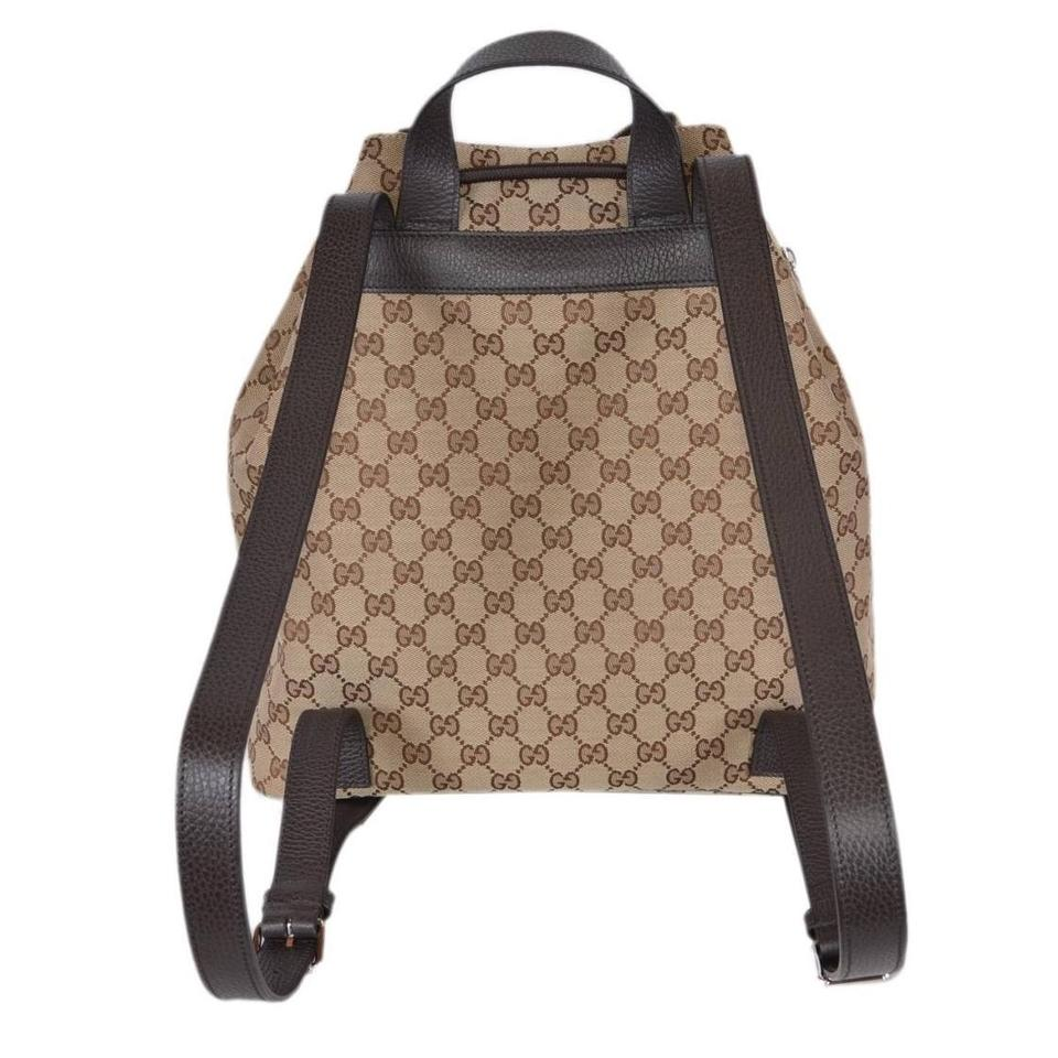49174c0c45d Gucci Canvas Dark Brown Backpack - Tradesy