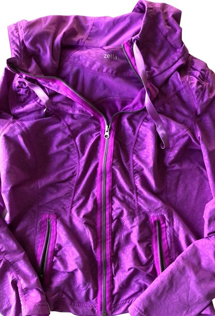 Item - Purple Hooded Activewear Outerwear Size 12 (L)