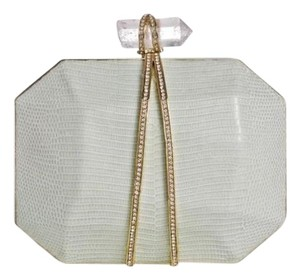 Marchesa Evening Runway Bridal Wedding Prom mint green Clutch