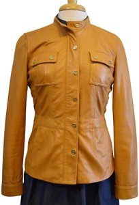 Tory Burch Brown Camel Leather Jacket