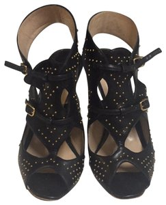Nicholas Kirkwood black and gold Platforms