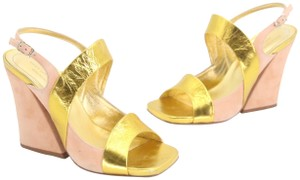 049b980c28 Dries van Noten Vintage Summer Tan Yellow Gold Sandals